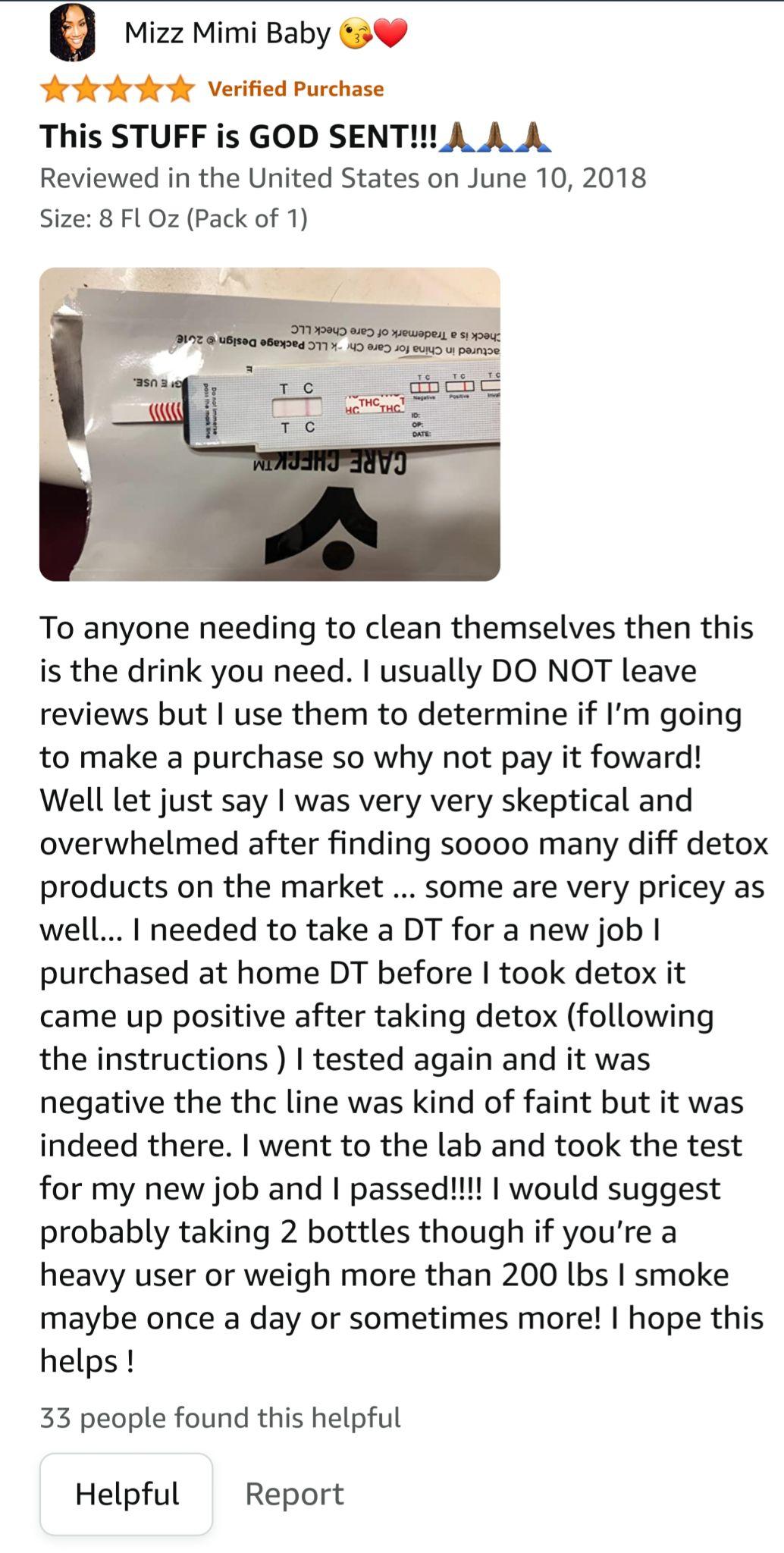 Stinger Detox Drink Positive Review